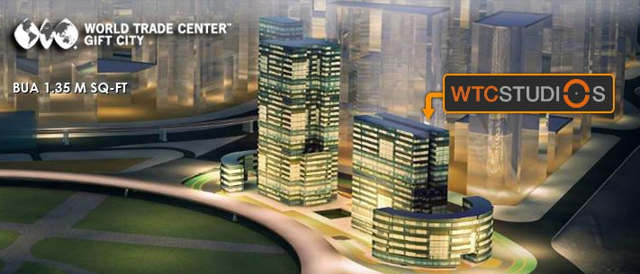 WTC GIFT City, Gujarat Elevation of 4 towers